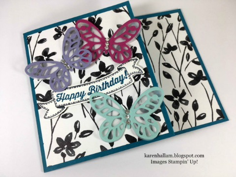 Bold Butterfly Birthday Card With A Pocket