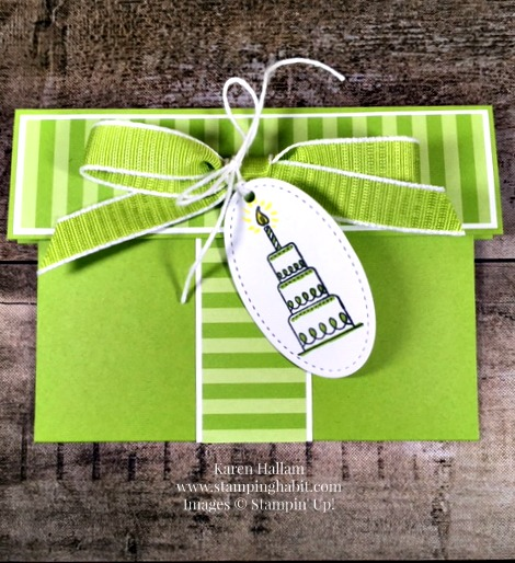 Gift Card Holder Birthday Idea Amazing Life Stamp Set Wrapped Box